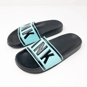 Victorias Secret PINK Blue Slides Sandals Small S